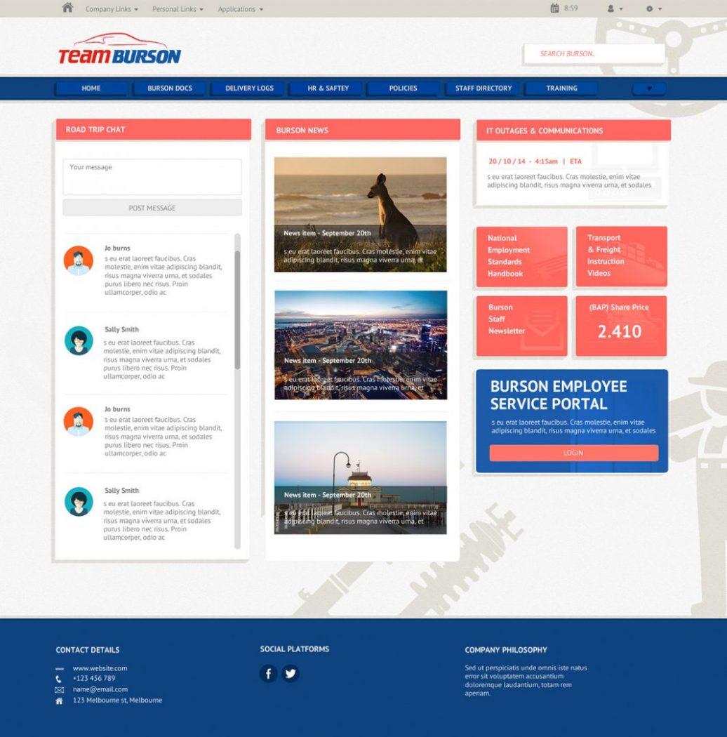 custom intranet layout 17