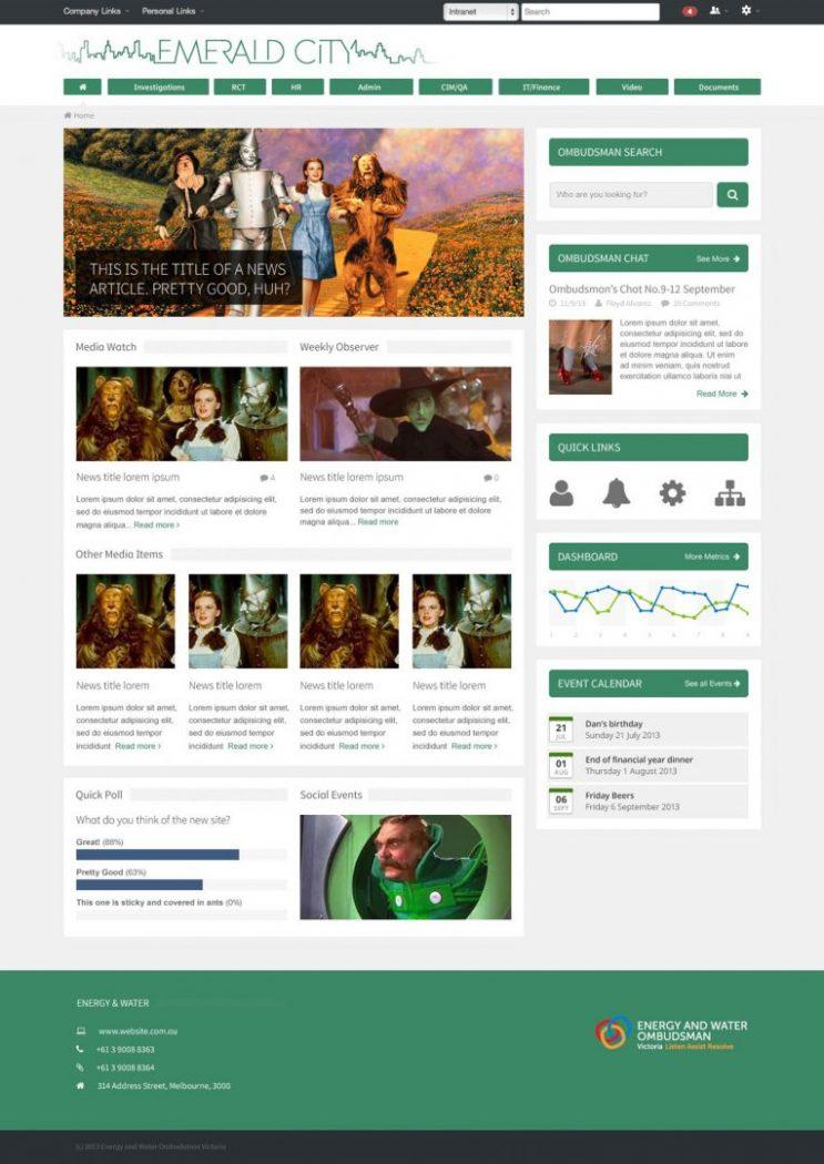 custom intranet layout 23