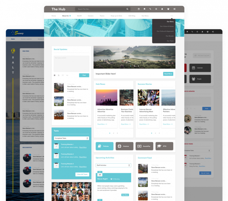 custom intranet layout