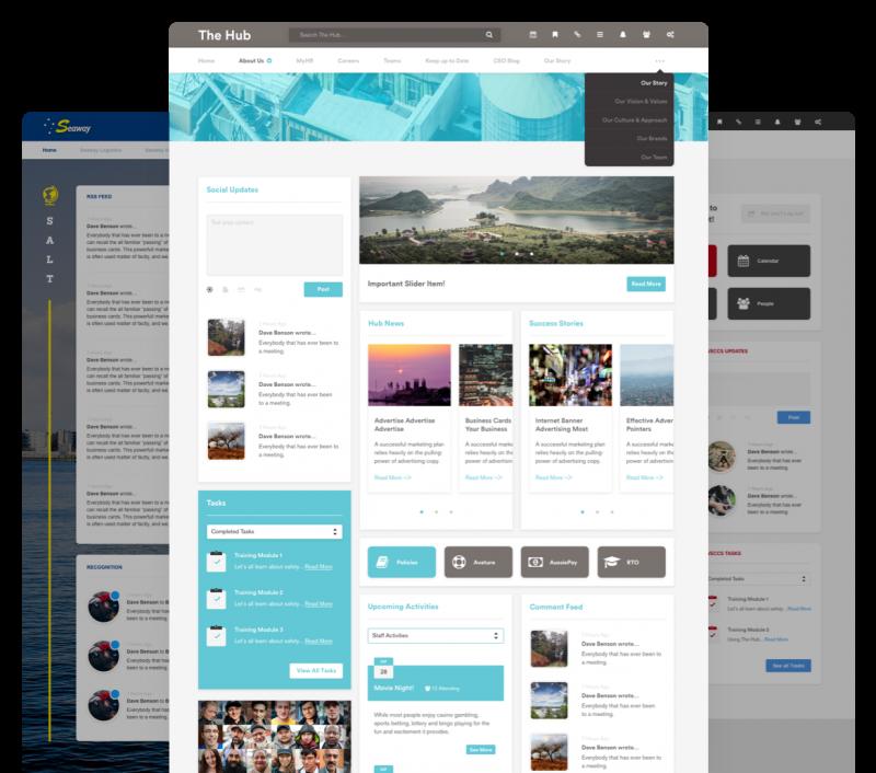 custom intranet layout