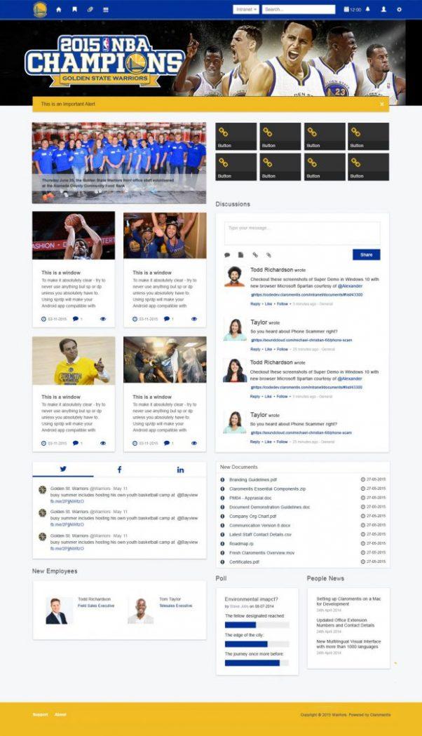 custom intranet layout 21