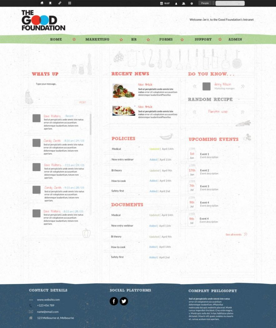 custom intranet layout 20