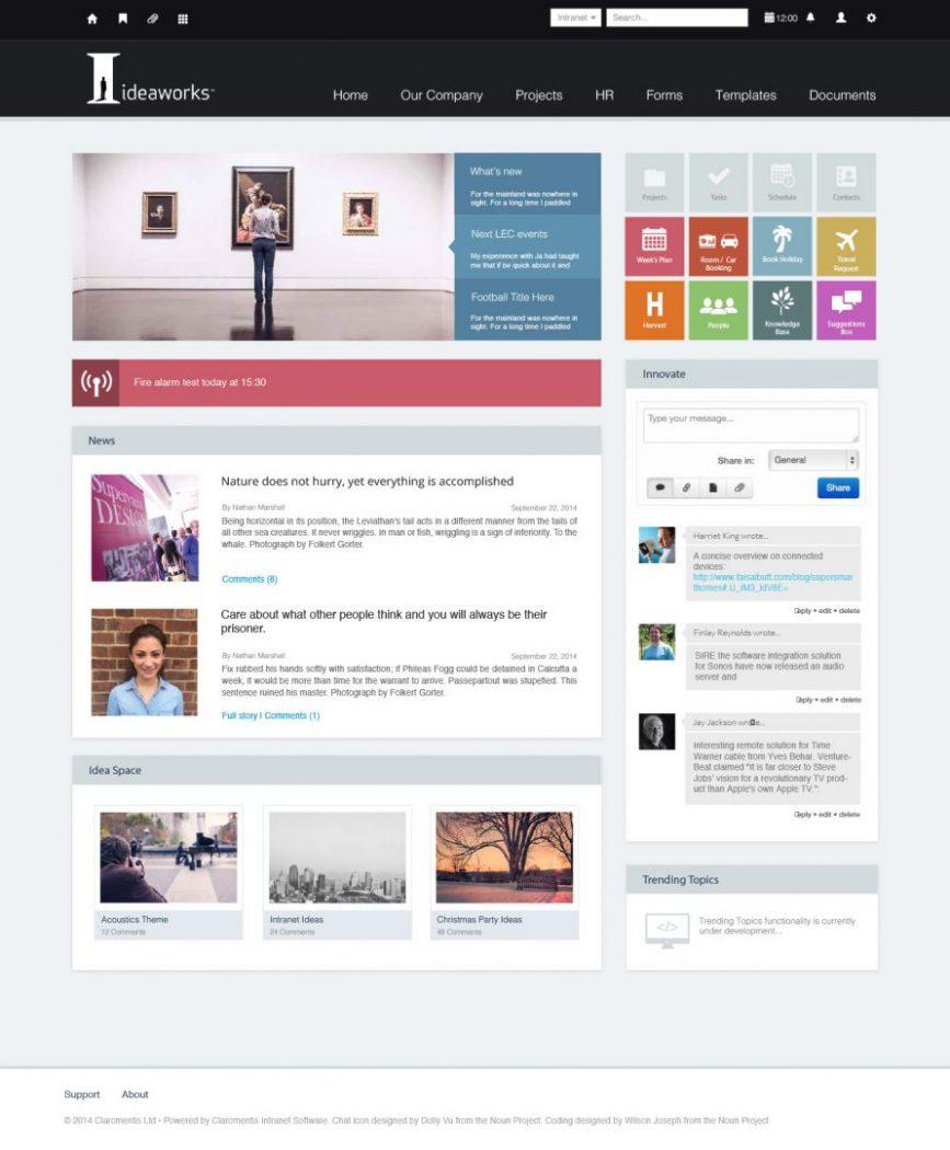 custom intranet layout 19