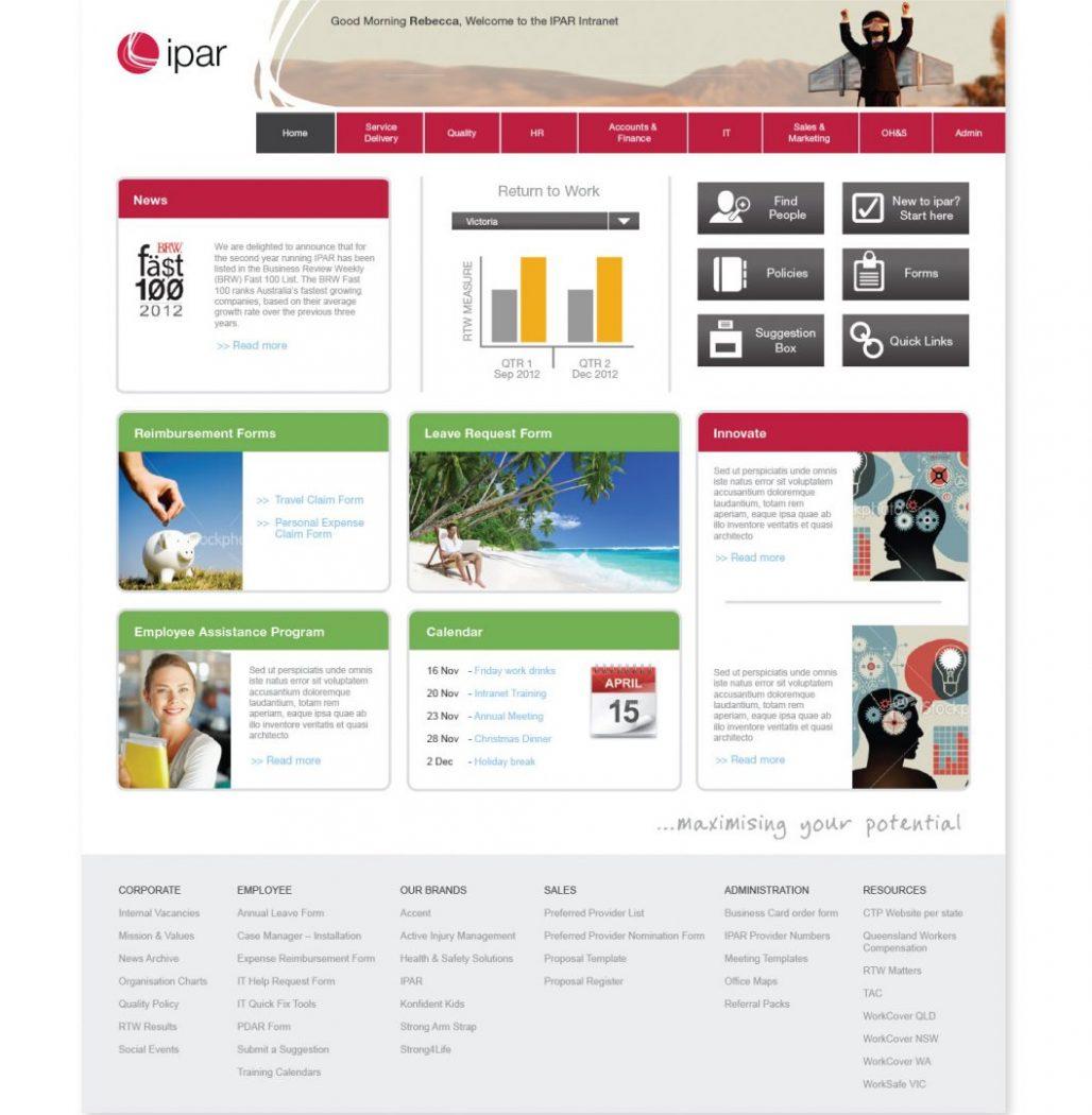 custom intranet layout 18