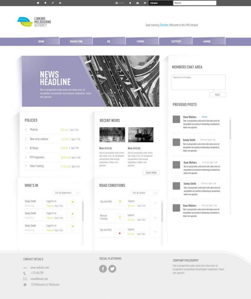 custom intranet layout 16
