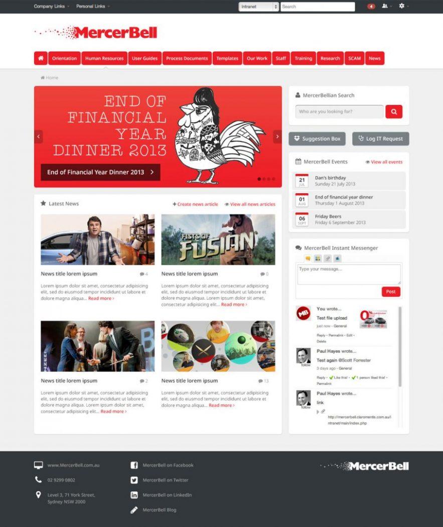 custom intranet layout 14